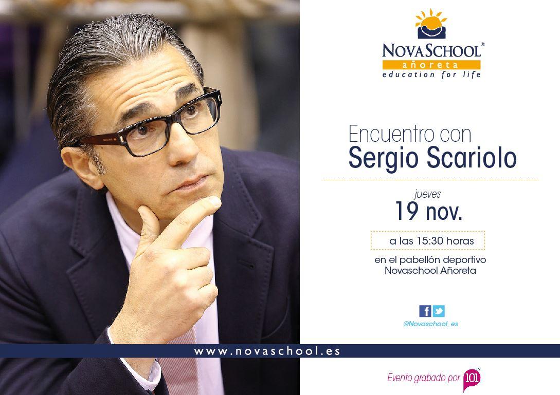 Encuentro Sergio Scariolo con Novaschool Añoreta