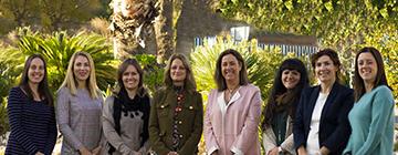 Imagen de las ocho directoras de los centros educativos