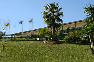 Vista desde el jardín del colegio británico de Málaga Sunland