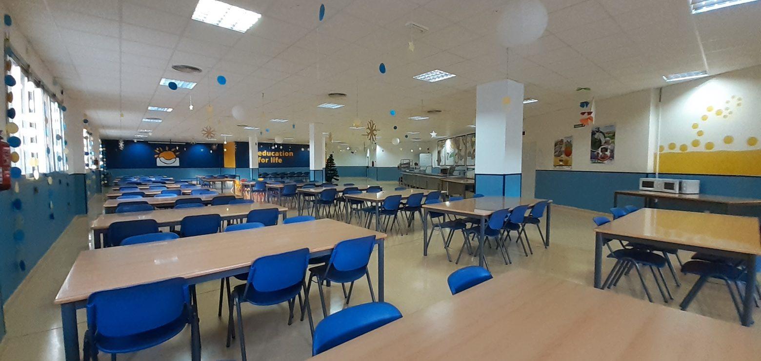 Sala de comedor del colegio residencial Novaschool