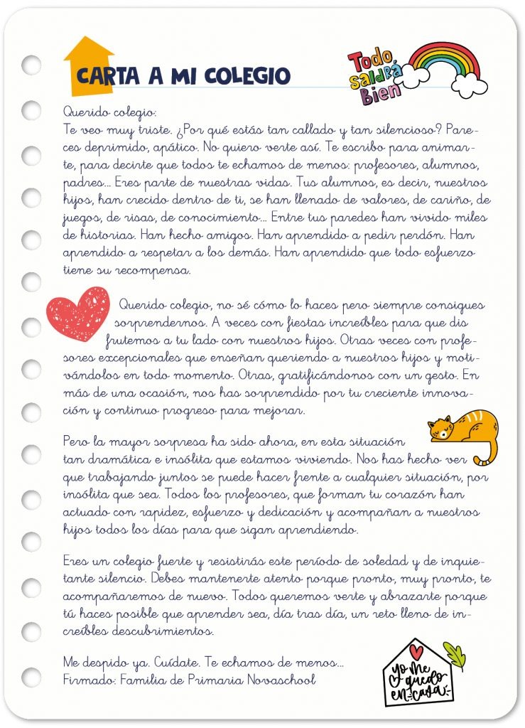 Carta de familias novaschool