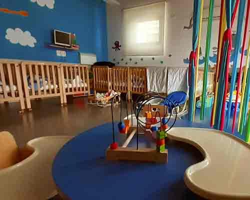 Interior del aula de 0 años en Fuentenueva